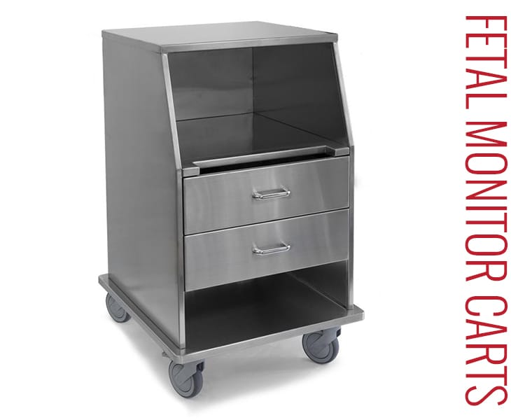 Stainless Steel Carts - Fetal Monitor Carts