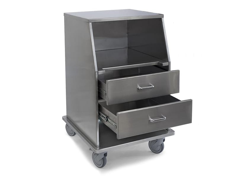 Stainless Steel Fetal Monitor Carts 2