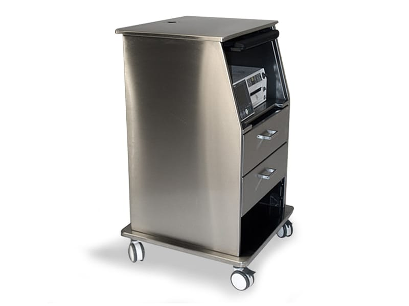 Stainless Steel Fetal Monitor Carts 3