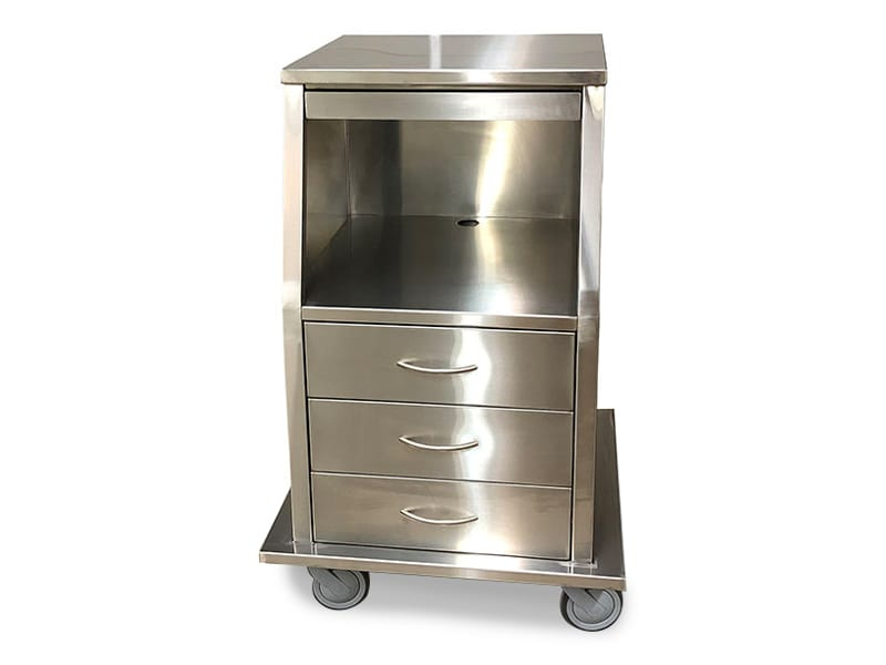 Stainless Steel Fetal Monitor Carts 4