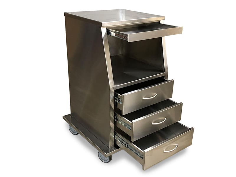 Stainless Steel Fetal Monitor Carts 5